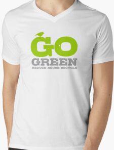 Go Green For Earth Day Mens V-Neck T-Shirt