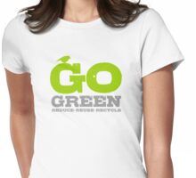 Go Green For Earth Day Womens Fitted T-Shirt