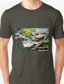 Fungus and Moss on Tree Bark Unisex T-Shirt