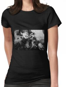 Fungus on Dead Tree Womens Fitted T-Shirt