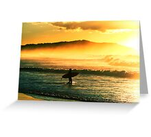 Sunrise surf. Greeting Card