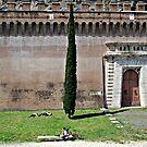 Guarding Fort-Rome, Italy by Deborah Downes