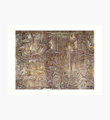 Cambodia. Angkor Wat , Siem Reap 37 Art Print