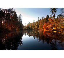 Mirrored Lake in Fall Photographic Print