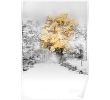 Wind Gust after the snow on a Fall Day Poster