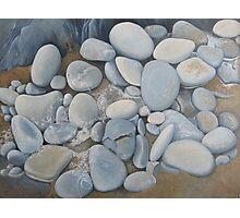 Seafoam & Pebbles Photographic Print