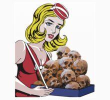 cigarette girl - skulls Kids Clothes