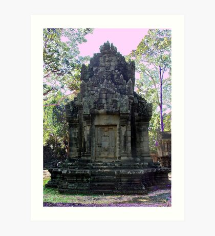 Cambodia. Angkor Wat , Siem Reap in colour Art Print