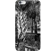 Palms And Walls In Black And White iPhone Case/Skin