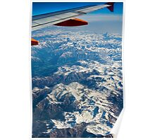 French Alps near Lyon France Poster