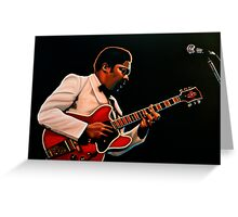 B. B. King painting Greeting Card