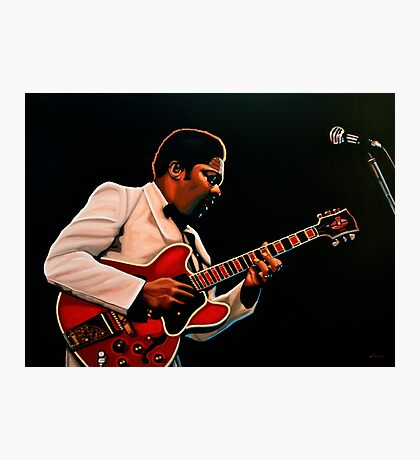 B. B. King painting Photographic Print
