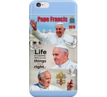 Pope Francis 2015 3 image block portrait iPhone Case/Skin