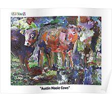 "GretchenArt ""Austin Mooie Cows"" Poster"