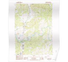 USGS Topo Map Oregon Winchester 282116 1987 24000 Poster