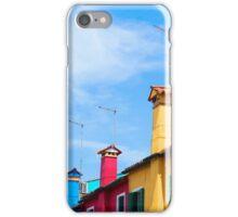 Colourful Architecture of the Italian Island Burano iPhone Case/Skin