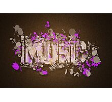 Music Graffiti Style In Purple And Brown Photographic Print
