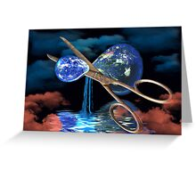 Divided Planet - For World Earth Day Greeting Card