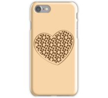 coffee beans heart (love) iPhone Case/Skin