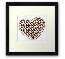 coffee beans heart (love) Framed Print