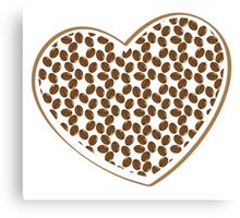 coffee beans heart (love) Canvas Print