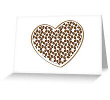 coffee beans heart (love) Greeting Card