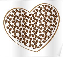 coffee beans heart (love) Poster