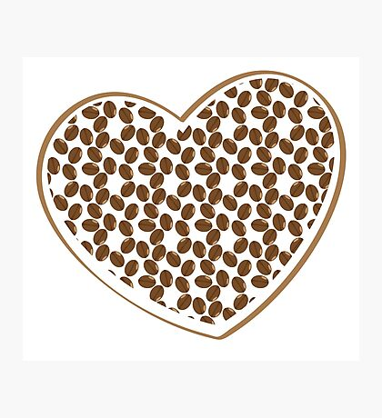 coffee beans heart (love) Photographic Print
