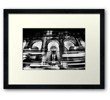City night lights Framed Print