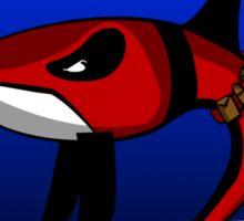 The Crimson Cetacean Sticker