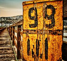 Old railway sign, Barmouth, Wales by Simon Duckworth
