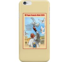 Pope Francis 2015 with doves cream background 2 iPhone Case/Skin