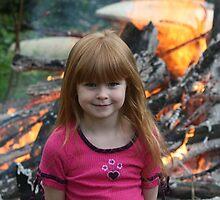 Backyard Bonfire by Dave Davis