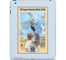Pope Francis 2015 with doves cream background 1 iPad Case/Skin