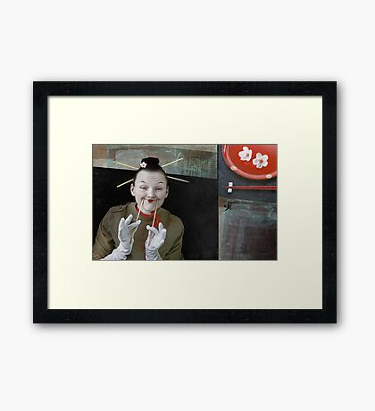 Smile in Japanese style Framed Print