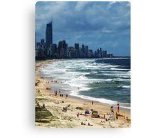 Beach Life Gold Coast Australia Canvas Print