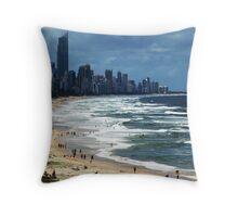 Beach Life Gold Coast Australia Throw Pillow