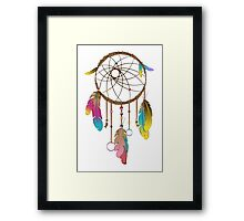 Dreamcatcher Rainbow  Framed Print
