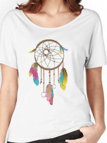 Dreamcatcher Rainbow  Women's Relaxed Fit T-Shirt