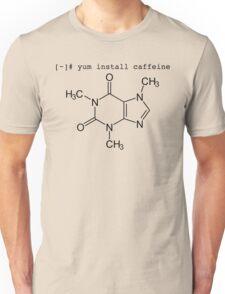 yum install caffeine Unisex T-Shirt