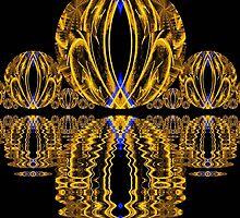 Golden Escher Night Lights  (UF0244) by barrowda