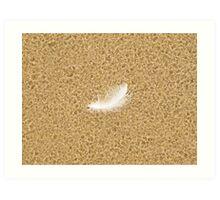 Feather in the Rain Art Print