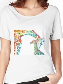Giraffe Mommy and Baby Women's Relaxed Fit T-Shirt