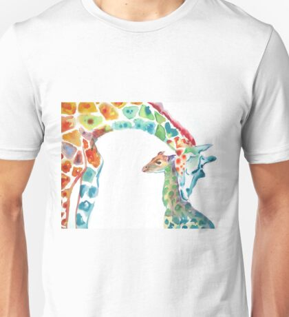 Giraffe Mommy and Baby Unisex T-Shirt