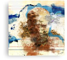 selfportrait with my creation muse v3 Canvas Print