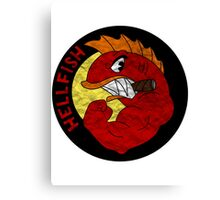 HELLFISH SIMPSONS - PAPER TEXTURE Canvas Print