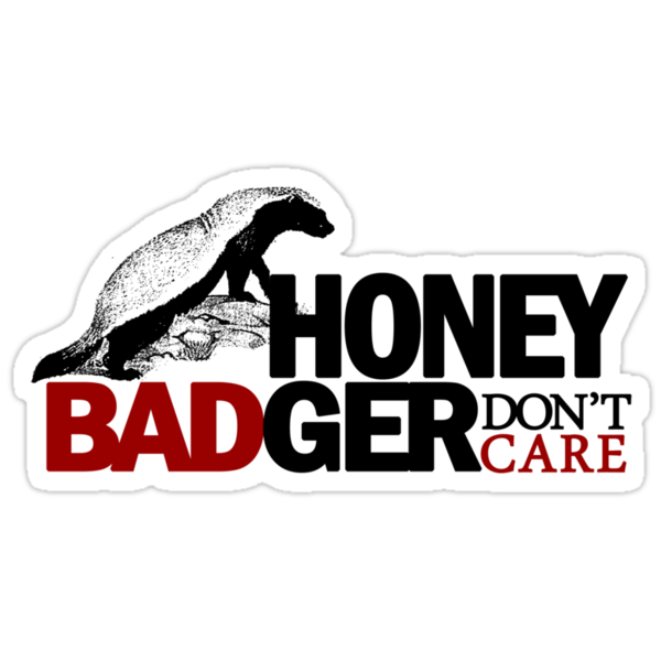 Honey Badger Don't Care by personalized