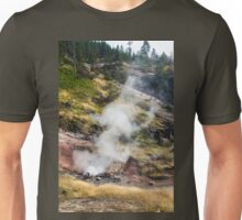 Steaming Geyser, Yellowstone National Park Unisex T-Shirt