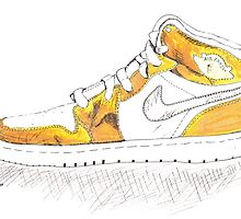 Gold Air Jordan 1 (MJ's 1992 Olympic Gold Medal Win) by ahoff