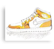 Gold Air Jordan 1 (MJ's 1992 Olympic Gold Medal Win) Canvas Print